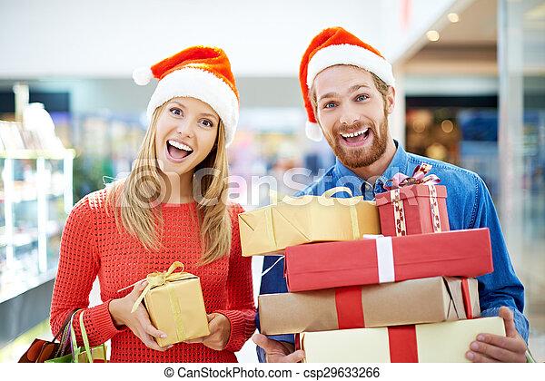 shopping, natale - csp29633266