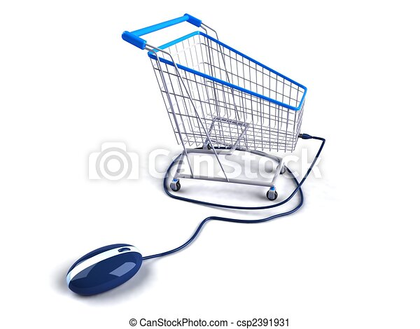 Shopping online - csp2391931