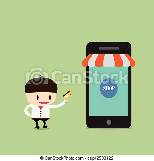 Shopping online, Online Store on smart phone. Business and Digital Marketing Concept - csp42503122