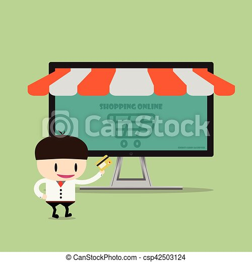 Shopping online, Online Store on smart phone. Business and Digital Marketing Concept1 - csp42503124
