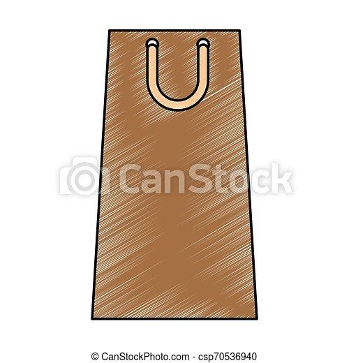 shopping paper bag icon - csp70536940