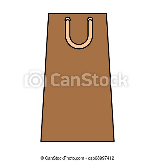 shopping paper bag icon - csp68997412