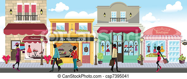 Shopping people - csp7395041