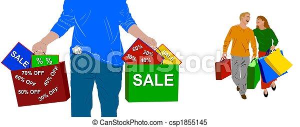 shopping, persone - csp1855145
