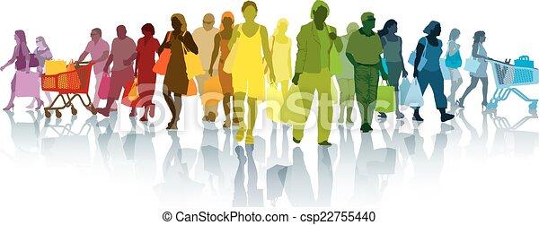 shopping, persone - csp22755440