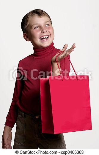 shopping, regalo - csp0406363