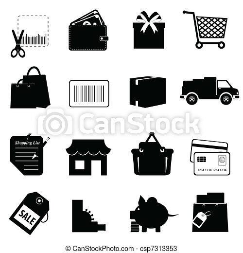 Shopping related icon set - csp7313353