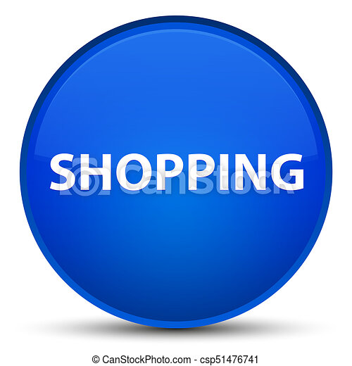 Shopping special blue round button - csp51476741