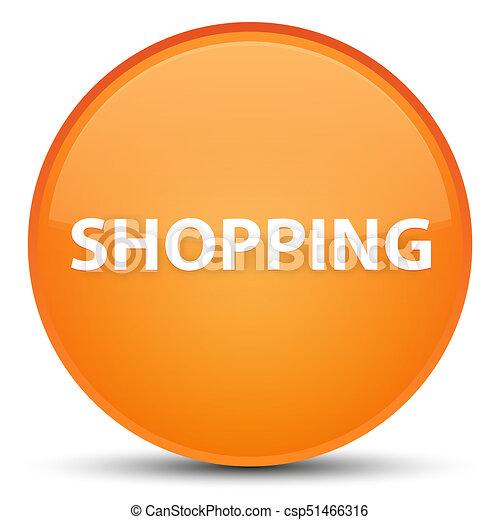 Shopping special orange round button - csp51466316