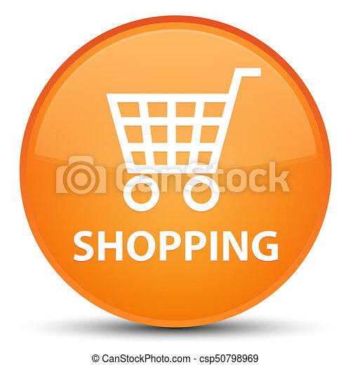 Shopping special orange round button - csp50798969