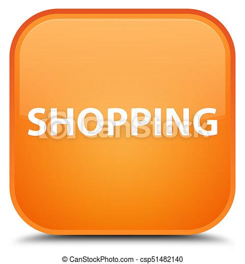 Shopping special orange square button - csp51482140