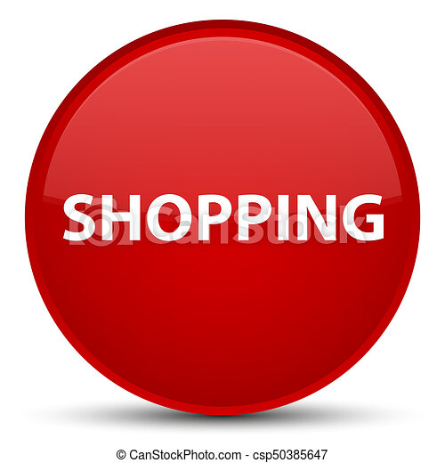 Shopping special red round button - csp50385647