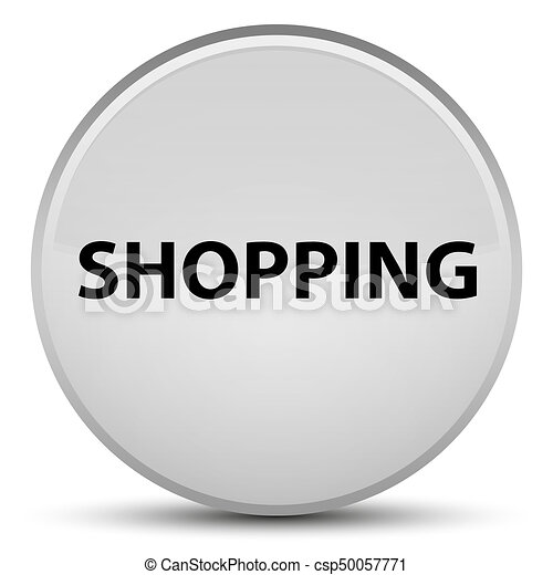 Shopping special white round button - csp50057771