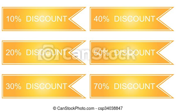 Shopping tags in yellow - csp34038847