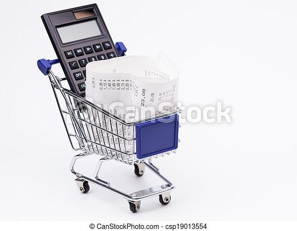 Shopping till receipt calculator a - csp19013554