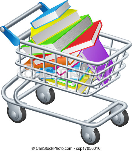 shopping trolley books concept of a supermarket shopping trolley rh canstockphoto com shopping trolley clipart trolley clipart free