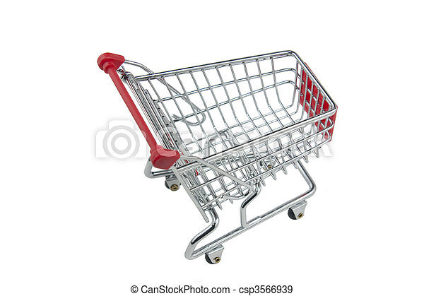 shopping trolley isolated - csp3566939
