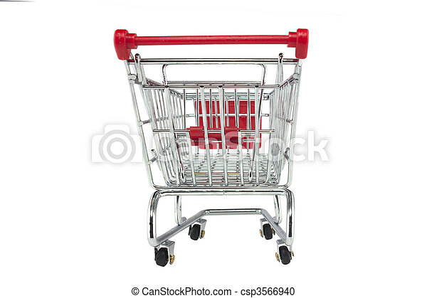 shopping trolley isolated - csp3566940