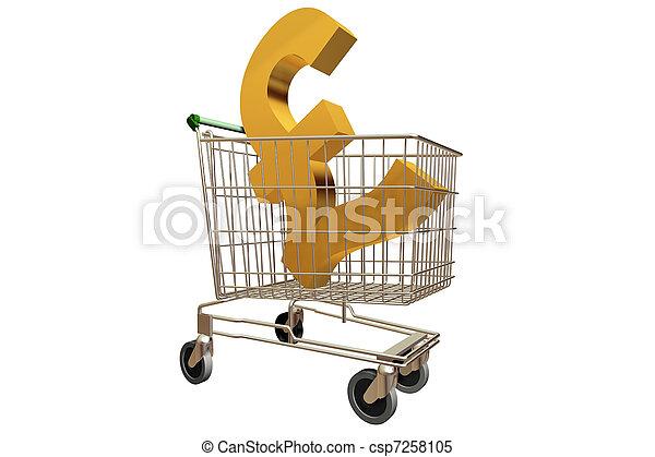 Shopping Trolley Pound - csp7258105