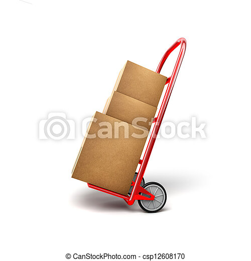Shopping Trolley With Packages - csp12608170