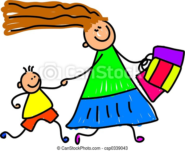 shopping with mum - csp0339043