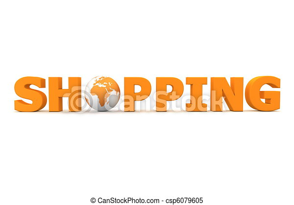 Shopping World Orange - csp6079605
