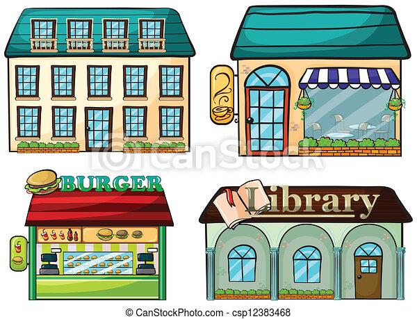 Shops set - csp12383468