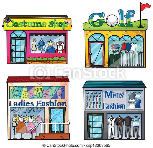 Shops set - csp12383565