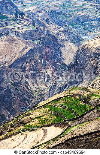 shore of a mountain river - csp43469694