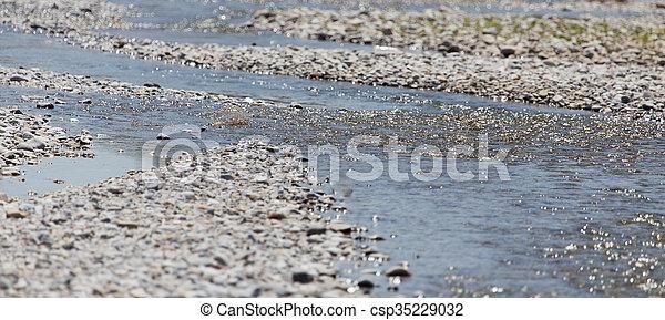 shore of a small river - csp35229032