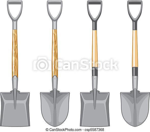 Short Handle Shovel and Spade - csp5587368