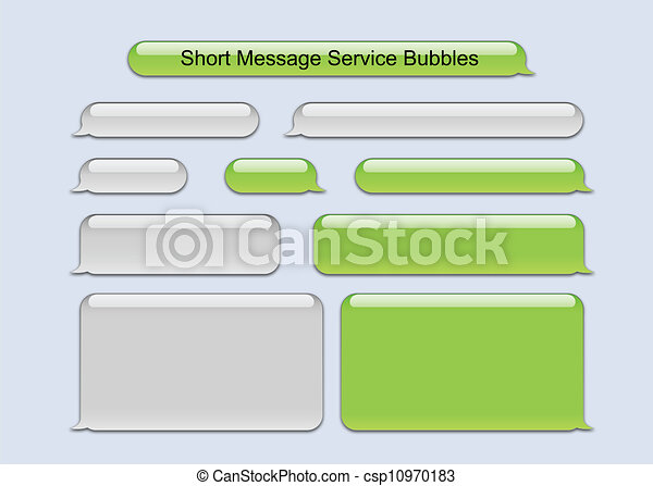 Short Message Service Bubbles - csp10970183