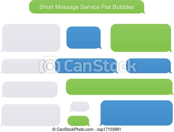 Short Message Service Flat Bubbles - csp17103991