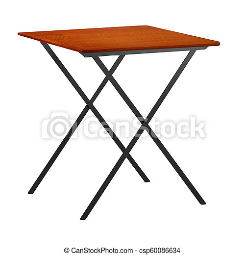 short stool isolated on white background - csp60086634