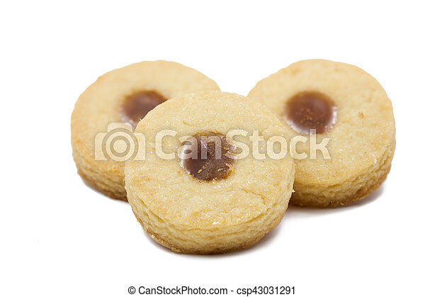 Shortbread with Earl Grey jelly filling, shallow depth of field (DOF) - csp43031291