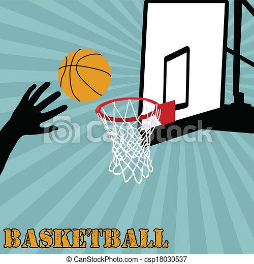 Shot of basketball ball - csp18030537
