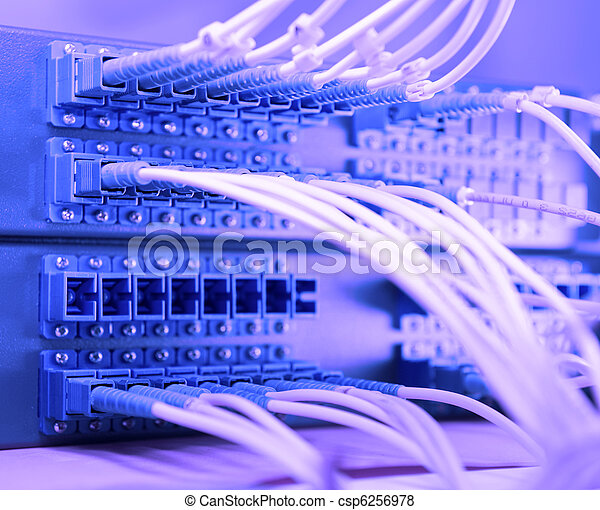 shot of network cables and servers in a technology data center - csp6256978