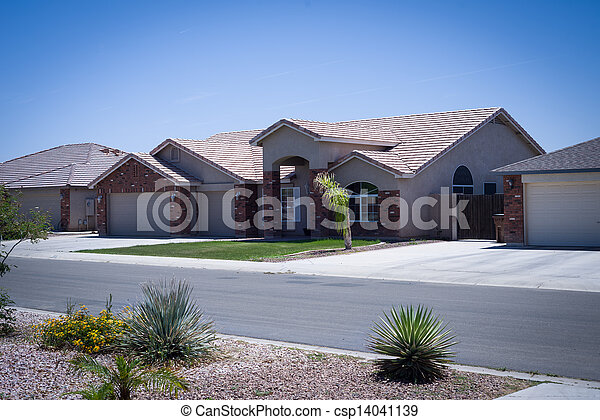 Shot of residential Arizona home - csp14041139