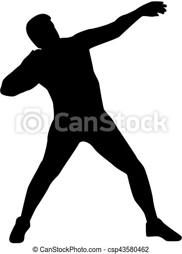 shot put silhouette clip art vector search drawings and graphics rh canstockphoto com shot put clipart free Shot Put Thrower Silhouette