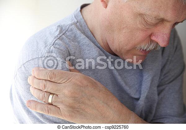 shoulder pain in a senior man - csp9225760