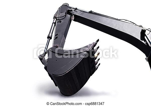 Shovel bucket against white background - csp6881347