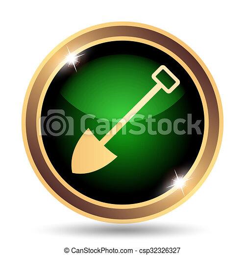 Shovel icon - csp32326327