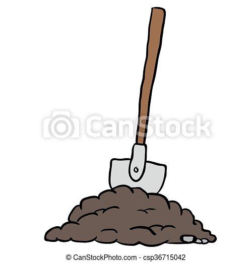 shovel in dirt - csp36715042