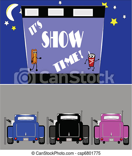 show time at drive in - csp6801775