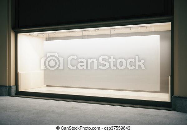 Showcase with banner - csp37559843