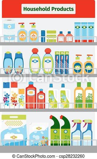 Showcase with hygiene items - csp28232260