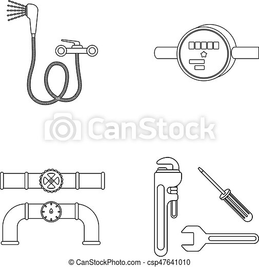Shower, faucet, water meter and other equipment.plumbing set ...