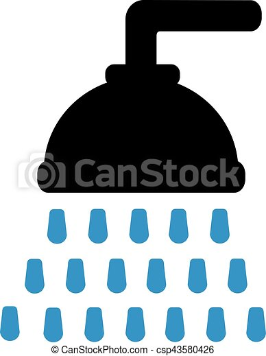 shower head clipart. Shower Head With Drops - Csp43580426 Clipart