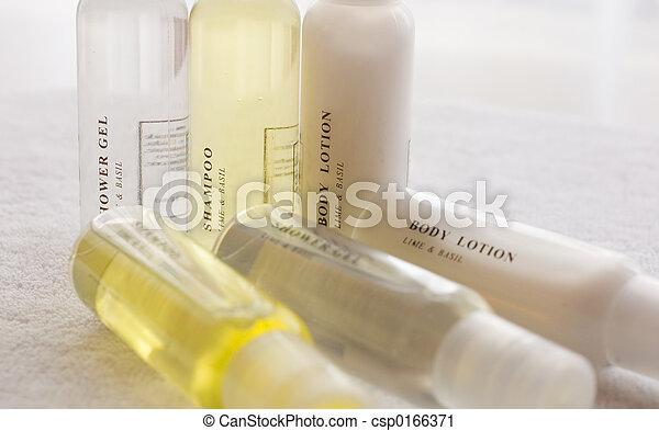 shower shampoo body lotion - csp0166371