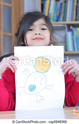 Showing off drawing - csp0948369
